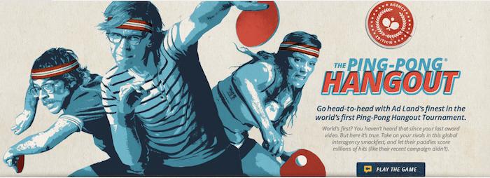 Ping Pong Hangout, le nouveau jeu sur Google+