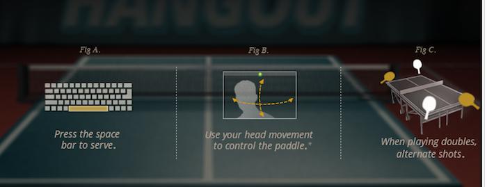 Ping Pong Hangout, le nouveau jeu sur Google+ -  Choix de la raquette sur Ping Pong Hangout