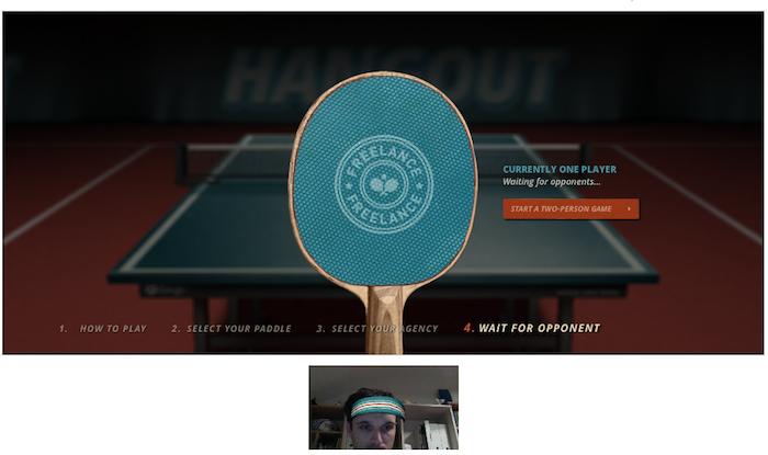 Ping Pong Hangout, le nouveau jeu sur Google+ - Début de la partie !