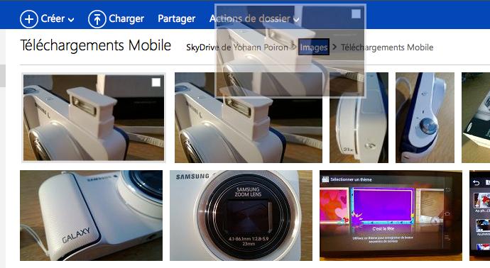 SkyDrive se modernise grâce à l'HTML5 - Déplacement de fichiers en drag&drop