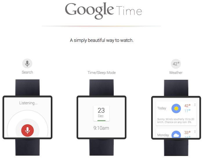 Un joli concept pour une SmartWatch Google - Google Time
