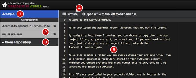 Un WebIDE pour programmer sur votre Raspberry Pi - Terminal WebIDE