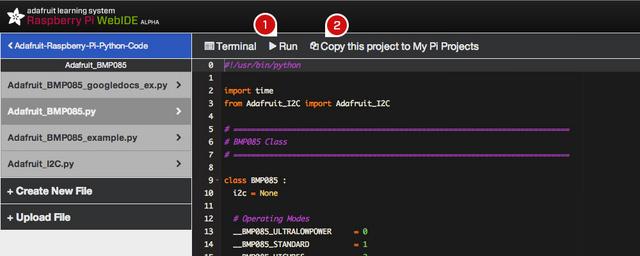 Un WebIDE pour programmer sur votre Raspberry Pi - Enregistrement fichiers avec WebIDE