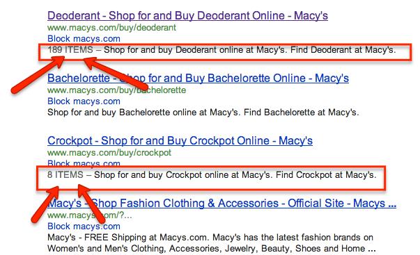 Apparemment Google teste le comptage de produits au sein des résultats de recherche