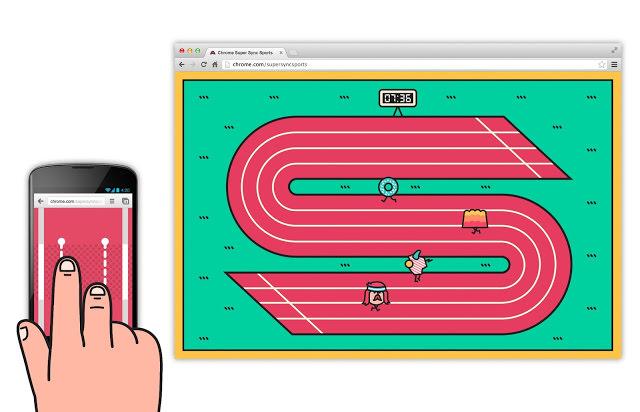 Chrome Super Sync Sports propose une expérience de jeu innovante sur mobile - Faites la course en utilisant l'écran tactile de votre smartphone ou de votre tablette