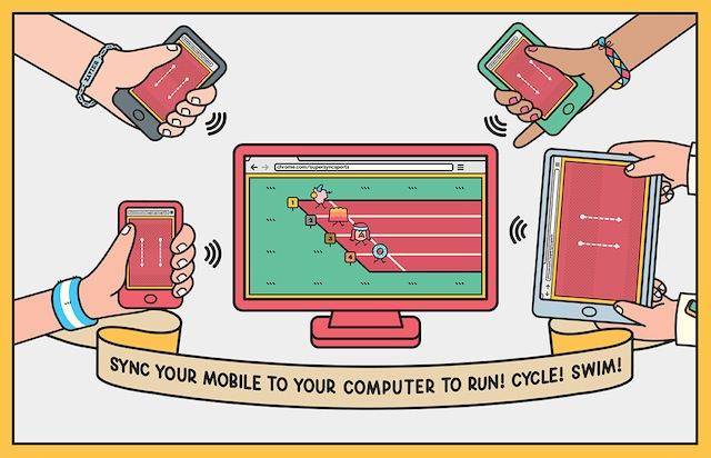 Chrome Super Sync Sports propose une expérience de jeu innovante sur mobile - Jusqu'à quatre amis peuvent jouer en utilisant un écran partagé
