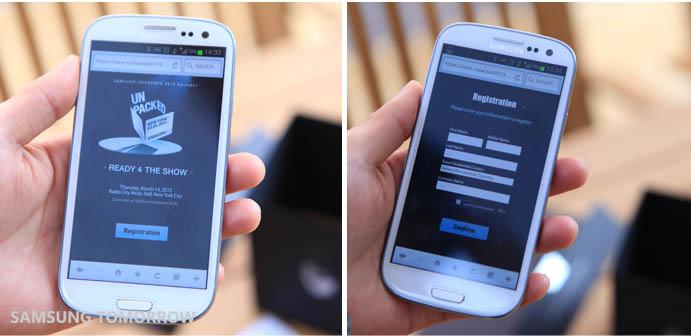 Du teasing de Samsung pour le prochain évènement Unpacked le 14 mars et dévoiler le Galaxy S4 - Enregistrement sur un site dédié pour la presse invitée