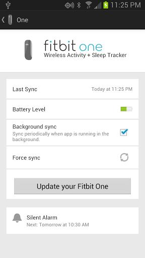 Fitbit met à jour son application Android avec la synchronisation Bluetooth 4.0 - Vue du dispositif sur Android
