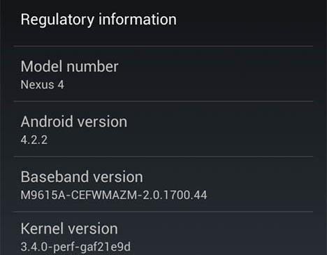 Google commence à déployer Android 4.2.2 Jelly Bean sur les dispositifs Nexus récents