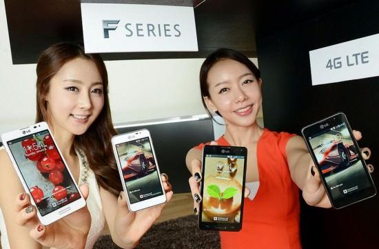 MWC'13 : LG dévoile ses séries Optimus G, Vu, F, et LII de smartphones - LG Optimus F7 et F5