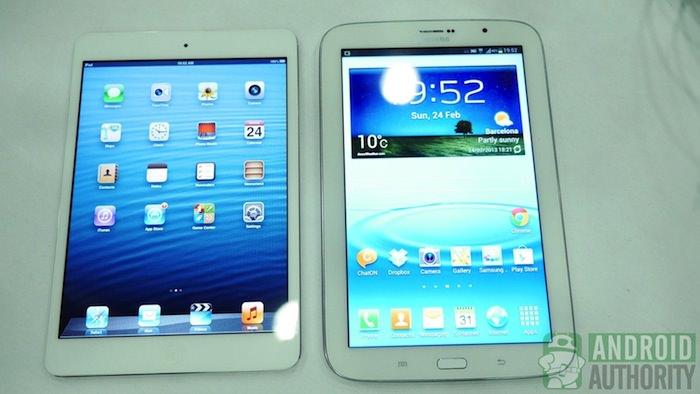 MWC'13 : Samsung annonce la Galaxy Note 8, une tablette de 8 pouces avec l'iPad Mini en ligne de mire - Comparaison entre la Galaxy Note 8 et l'iPad Mini