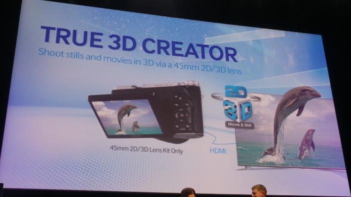 Samsung Forum 2013, en un mot Samsung veut être omniprésent chez vous ! - Prise de vue en 3D avec le NX300