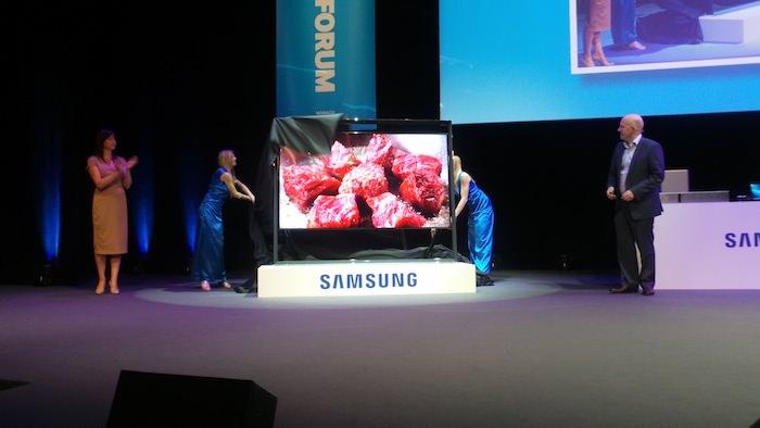 Samsung Forum 2013, en un mot Samsung veut être omniprésent chez vous ! - Voici le premier téléviseur Ultra Haute Définition (UHD) de 85 pouces