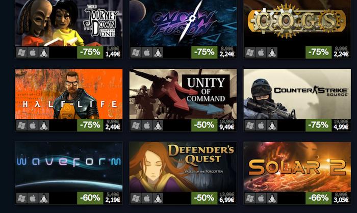 Steam est désormais officiel sur Linux ! À la clé pleins de promotions sur les jeux - Soldes sur les jeux Steam en raison de la sortie du client sur Linux