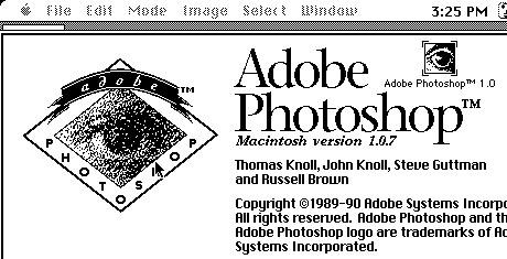 Téléchargez gratuitement Photoshop 1.0.1 23 ans après sa libération - Adobe Photoshop 1.0.7