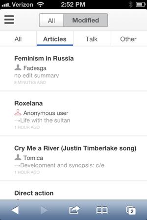 Wikipedia vous permet désormais d'éditer vos articles depuis votre mobile