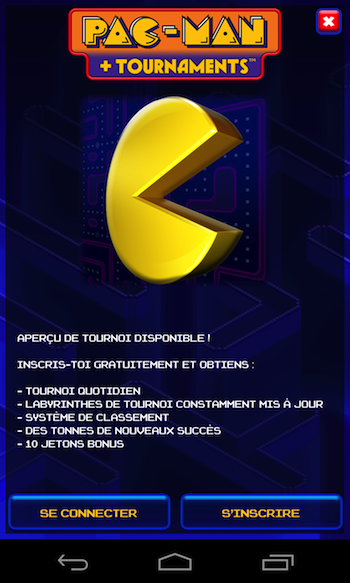 Pac-Man + Tournaments sur Android