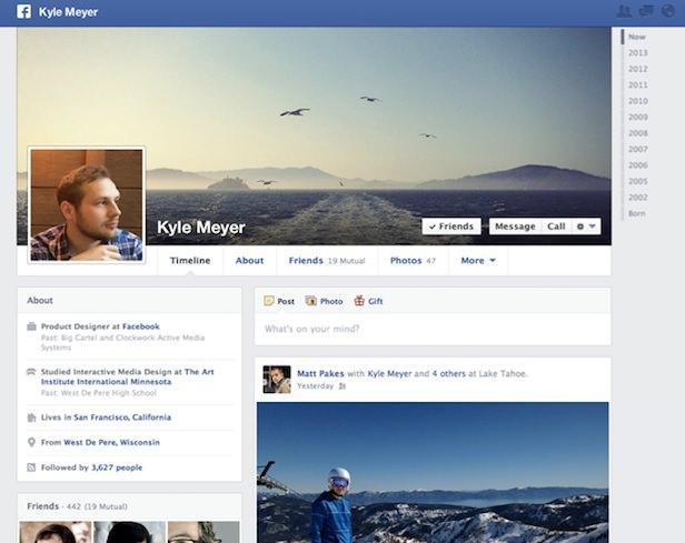 Facebook dévoile une nouvelle conception de la Timeline mettant davantage l'accent sur les intérêts - Le nouveau design de la timeline met l'accent sur vos publications