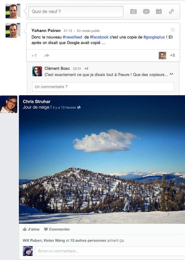 Facebook est-il en train de devenir le nouveau Google+ après l'annonce de son News Feed ? - Ressemblance dans les publications