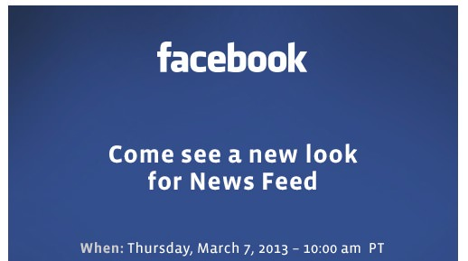 Facebook va tenir un évènement dédié à la refonte de son flux d'actualités le 7 mars