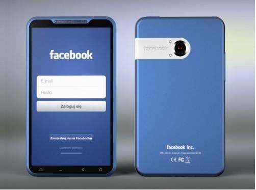 Concept d'un smartphone entre le partenariat de HTC et de Facebook