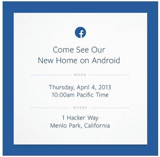 Facebook va tenir un évènement officiel le 4 avril prochain dédié à Android