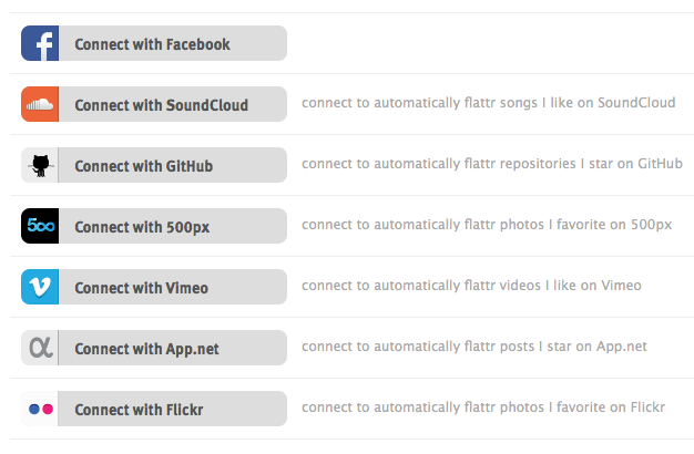 Flattr relance et pose une vielle question : combien vaut réellement un like ? - Connexion des réseaux sociaux à notre compte Flattr