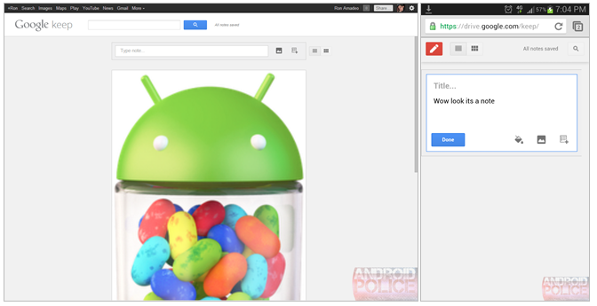 Google Keep le service de notes de Google et futur rival d'Evernote ? - Une interface qui nous fait penser à une version mobile