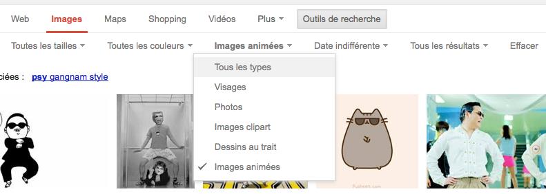 Google lance la recherche de GIF animé, Internet pleure de joie - Recherche des images animées