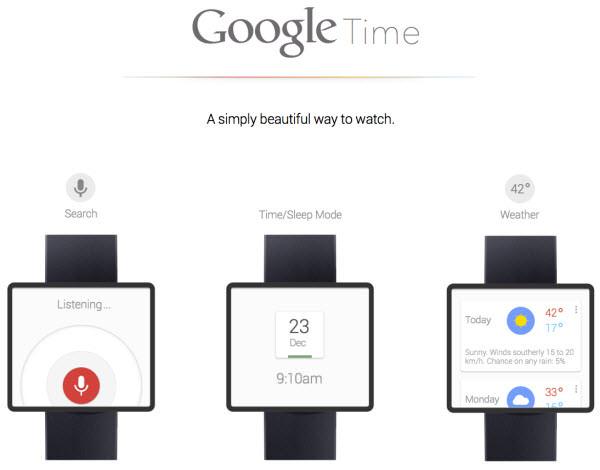 Google semble vouloir travailler sur une SmartWatch, l'obsession d'inonder le monde entier - Concept d'une SmartWatch Google