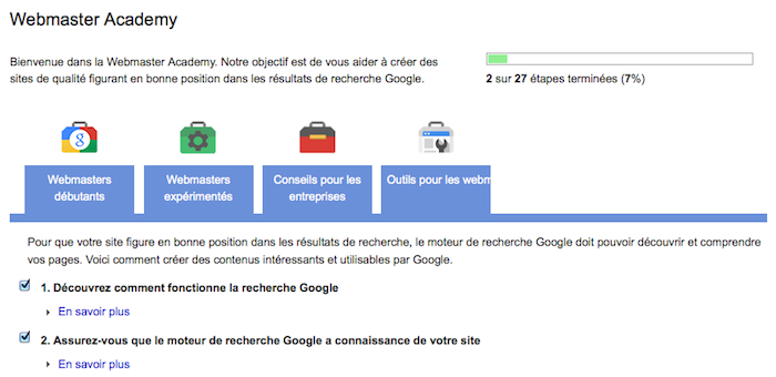 Google Webmaster Academy ait lancé dans 20 nouvelles langues dont le français