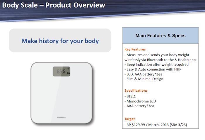 Le prix et la disponibilité des accessoires du Samsung Galaxy S4 ont fait surface - Balance Body Scale