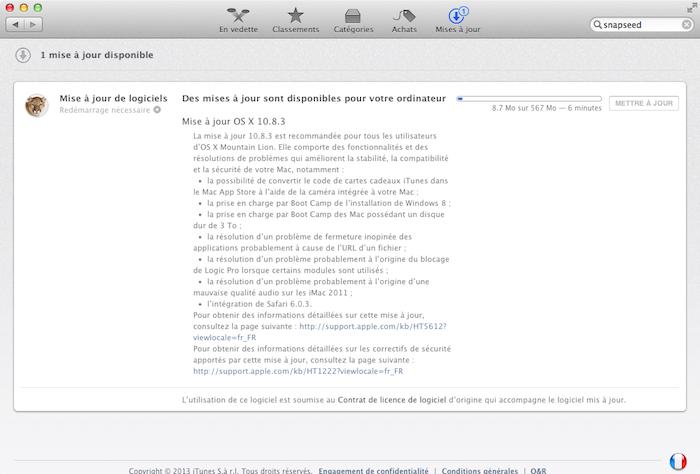 Mettez à jour votre Mac ! La dernière mise à jour d'OS X Mountain Lion éradique 21 bugs