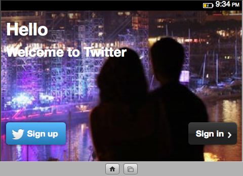 Mozilla lance la version preview de Firefox OS Simulator 3.0 - Twitter en mode horizontal
