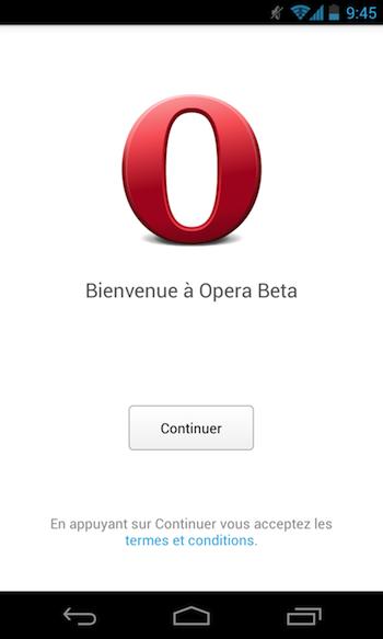 Opera lance son nouveau navigateur Android basé sur WebKit en version bêta