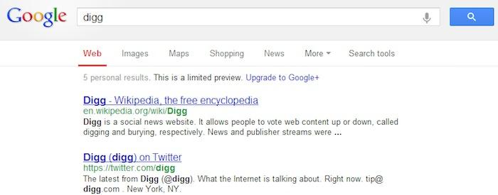 Pourquoi Digg a t-il été retiré des résultats de recherche de Google puis réintégré ? - Digg n'était plus référencé sur Google hier soir