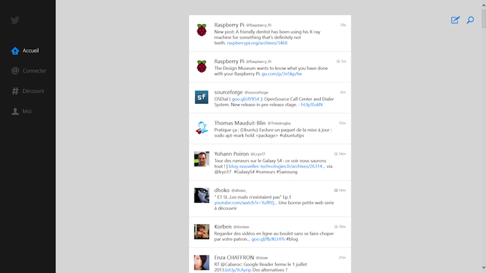Twitter lance enfin son application native pour Windows 8 et Windows RT - Twitter est enfin sur Windows 8