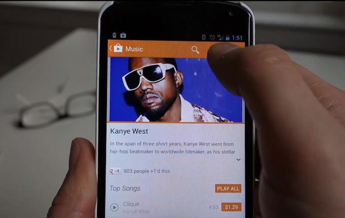 Un premier aperçu du Google Play v 4.0 est dévoilé en vidéo - La liste des application du Play Store 4.0 est beaucoup plus claire - La musique, livres et films sont davantage mis en avant avec des images plus grandes