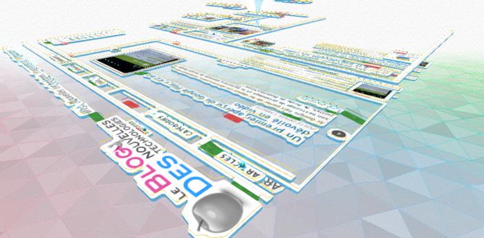 Une nouvelle Chrome Experiment convertit n'importe quel site Web en un labyrinthe 3D jouable - BlogNT transformé en un labyrinthe 3D jouable