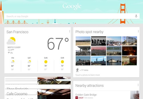 Google Now sur une tablette Android