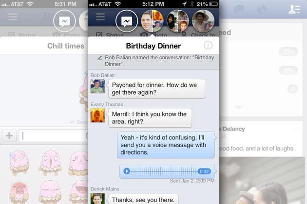 Facebook Chat Heads arrive déjà sur iPhone