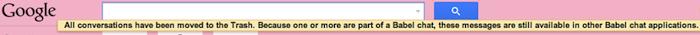 Google Bable apparaît dans un message de Gmail et Google Groups