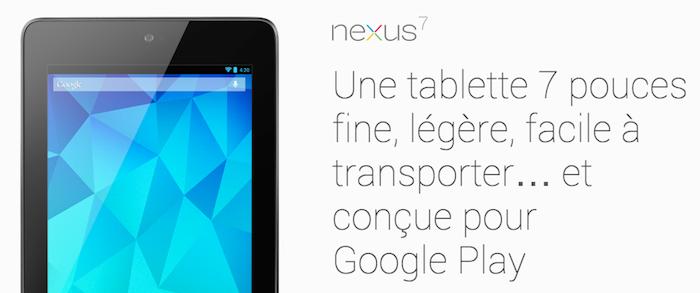 Google lancerait une nouvelle tablette Nexus 7 en juillet, au prix de 149 dollars