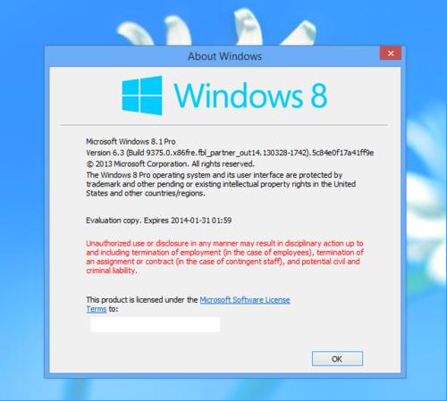 La future mise à jour de l'OS de Microsoft, Windows Blue devrait être nommée Windows 8.1