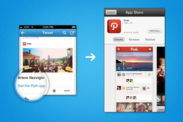 Les Twitter Cards sont en train de changer la façon dont vous regardez Twitter - Mobile deep-linking