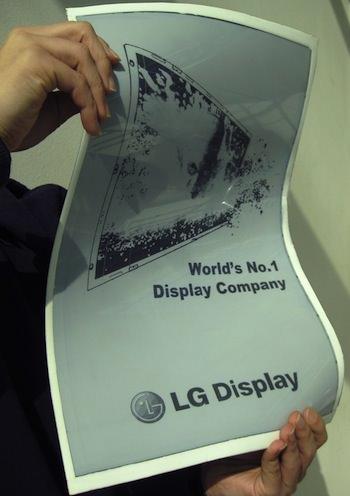 LG réaffirme que le lancement des écrans souples arrivera plus tard cette année