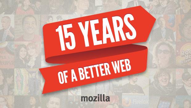 Mozilla célèbre son 15e anniversaire avec un hashtag #Webstory