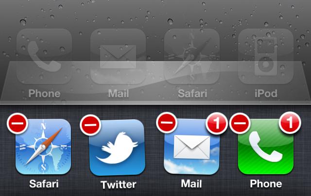 Le gestionnaire d'applications d'iOS permet de switcher rapidement entre les applications déjà ouvertes