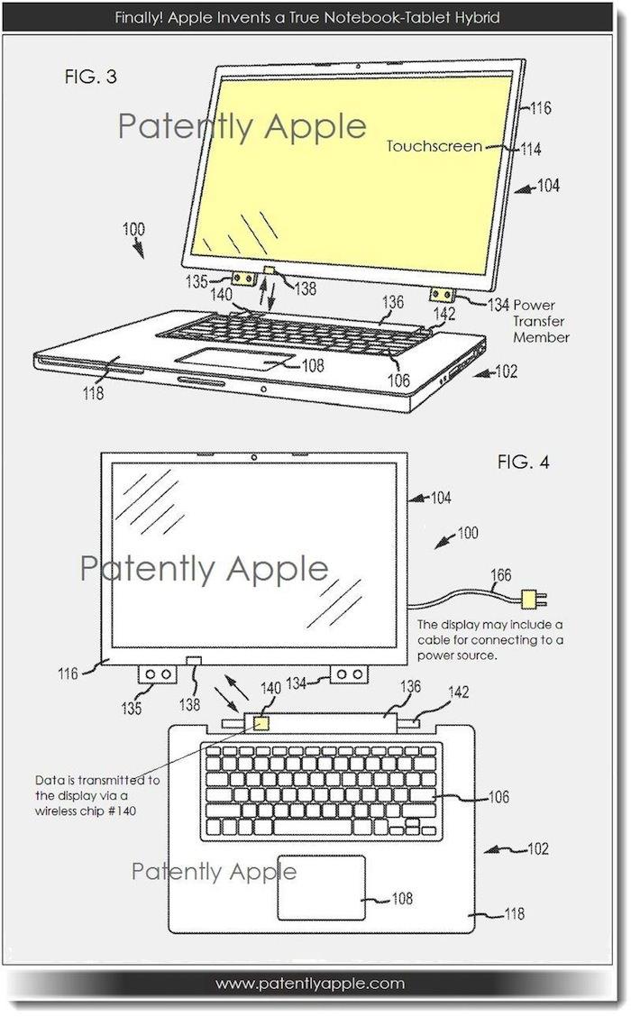 Un brevet Apple pour présenter le design d'un hybride MacBook ordinateur/tablette
