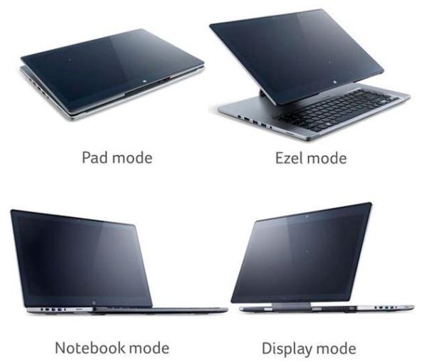 Acer dévoile l'Aspire R7: Une tortueux, et fun hybride Windows 8, en vente le 17 mai pour 999€